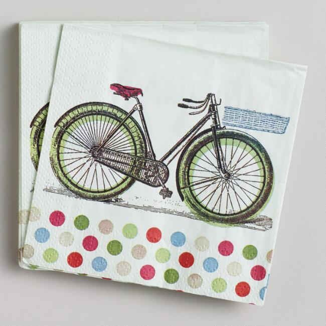 Bicycle Beverage Napkins, 16-Count