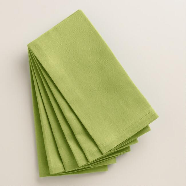 Oasis Green Buffet Napkins, Set of 6