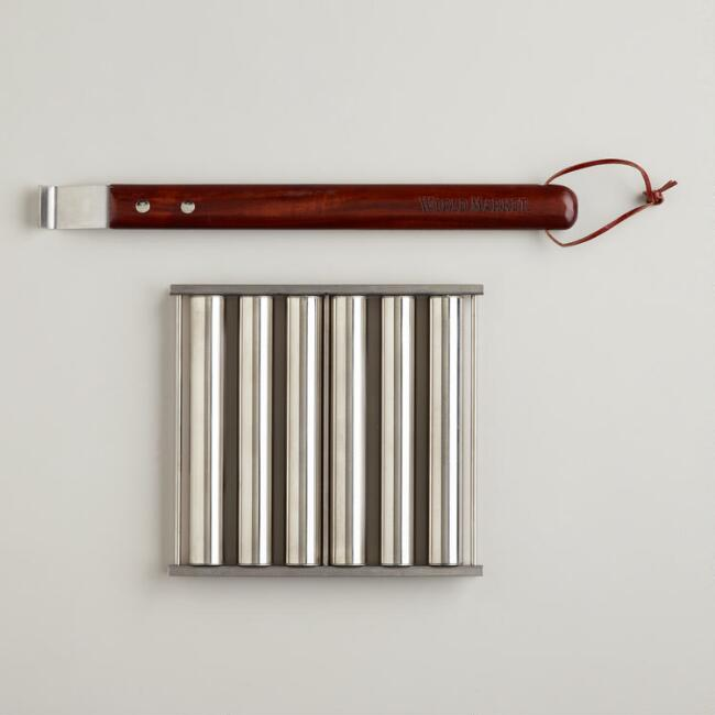 Hot Dog Roller Rack with Handles