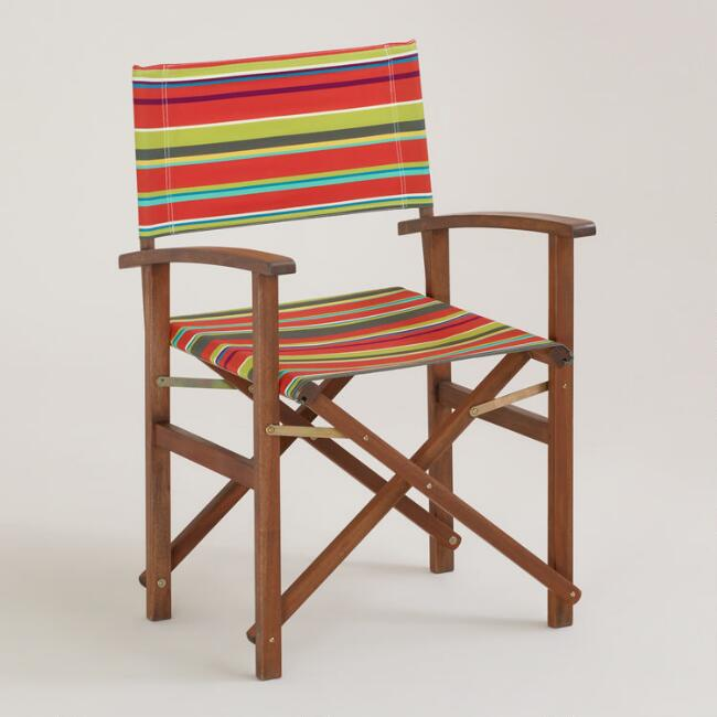 Harbor Stripe Bali Club Chair Canvas