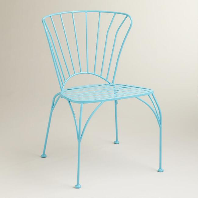 Blue Cadiz Stacking Chair, Set of 2