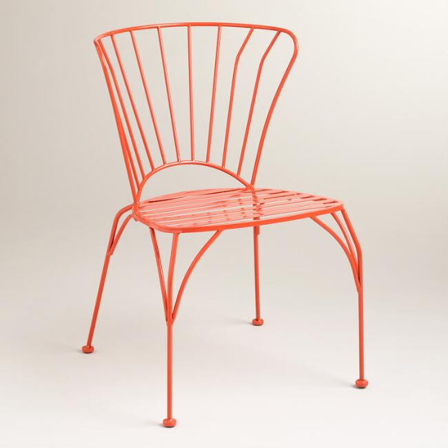 Spicy Orange Cadiz Stacking Chair, Set of 2