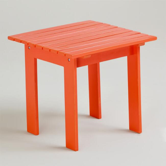 Spicy Orange Classic Adirondack Side Table