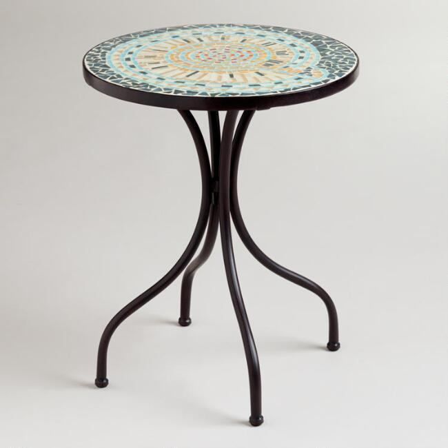 Shell Cadiz Mosaic Accent Table