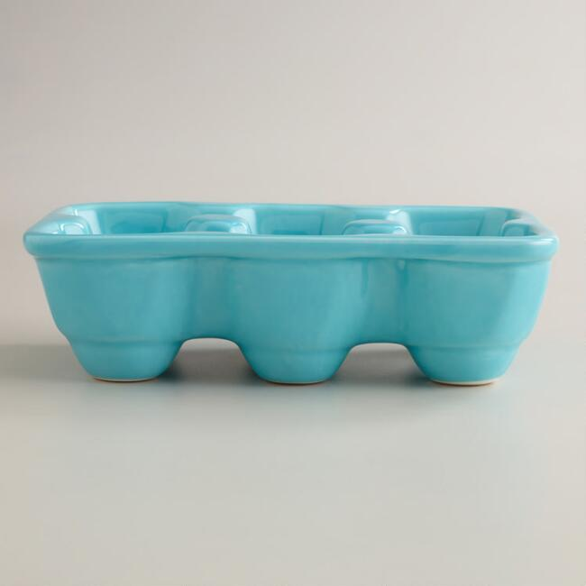 Aqua Ceramic Half Egg Crate