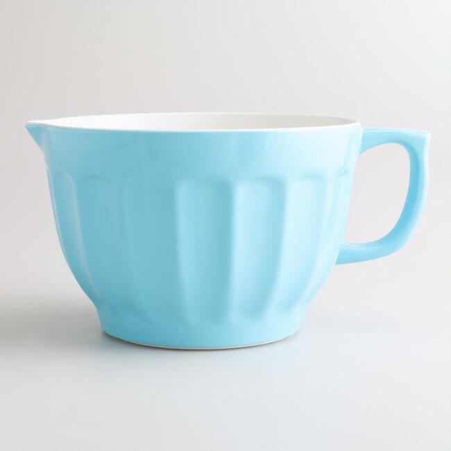 Large Blue Melamine Batter Bowl