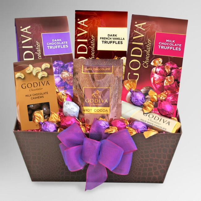 Godiva Love and Kisses Gift Basket