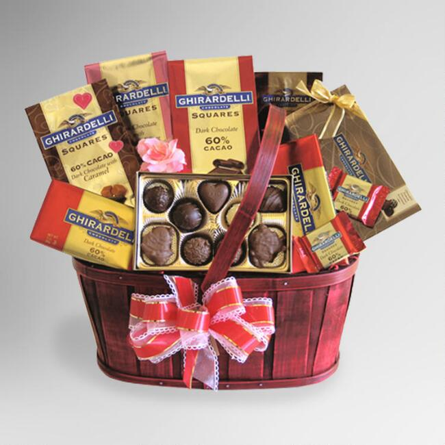 Chocolate Lover's Valentine Celebration Gift Basket
