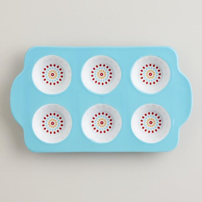 Aqua Ceramic Muffin Pan