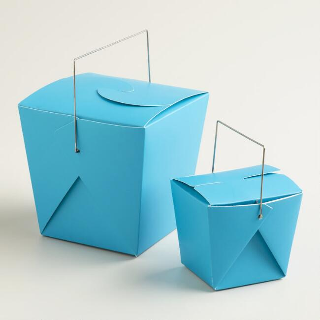 Blue Moon Takeout Boxes, Set of 4