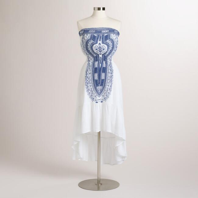 White and Blue Lalita Dress