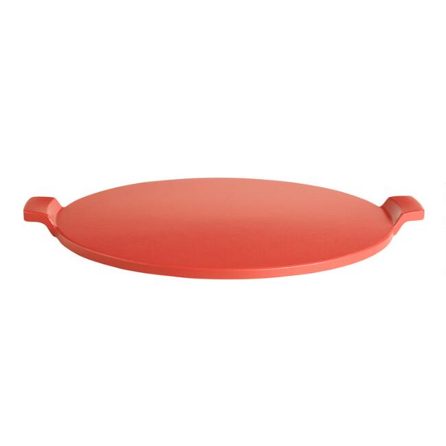 Red Glazed Pizza Stone