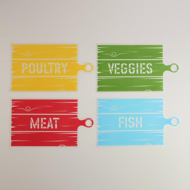 Country Cutting Mats, Set of 4