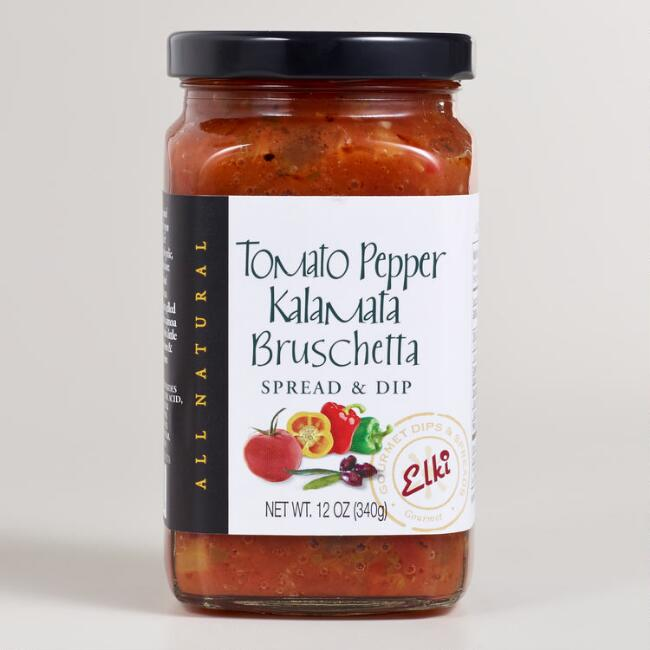Elki Tomato Pepper Kalamata Bruschetta, Set of 6