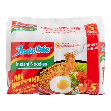 5 Pack Indomie Fried Noodles Set Of 6