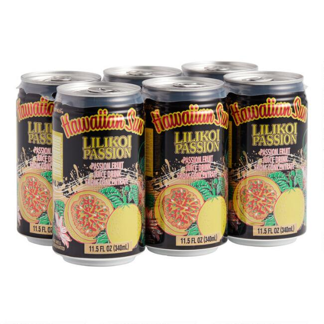 Hawaiian Sun Lilikoi Passion Juice Drink 6 Pack Set of 4
