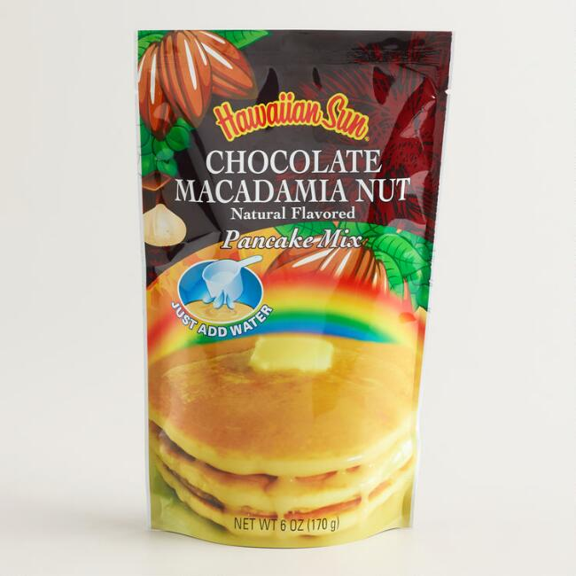 Hawaiian Sun Chocolate Coconut Macadamia Pancakes, Set of 6