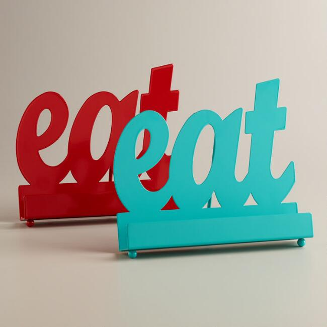 'Eat' Cookbook Holders, Set of 2