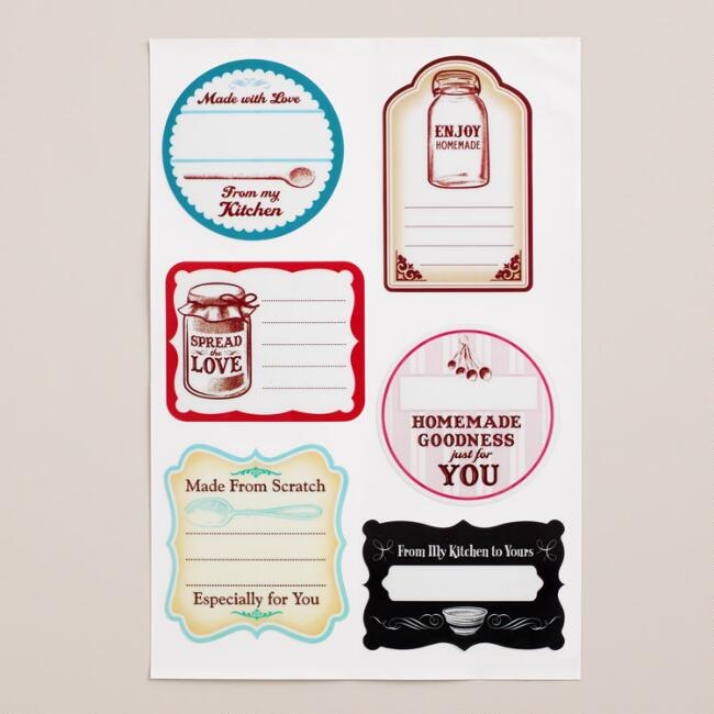 Homemade Jar Labels, 6-Count