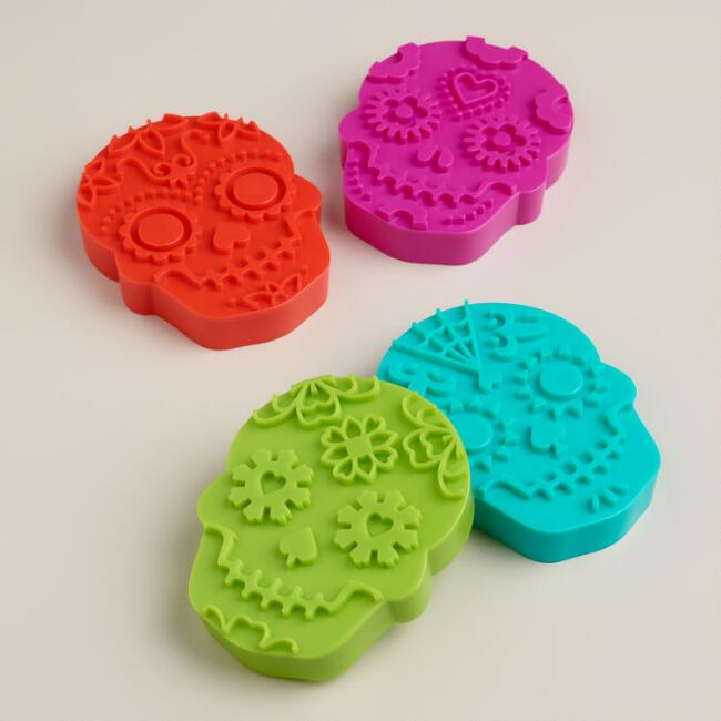 Sweet Spirits Day of the Dead Cookie Stamps, 4-Count