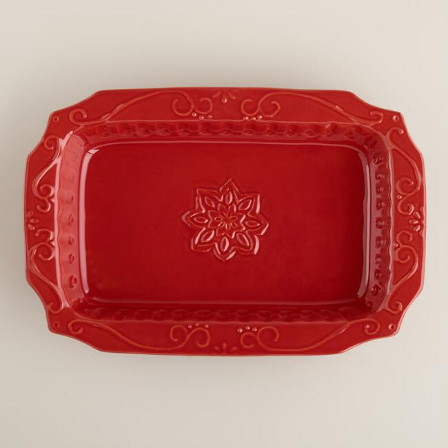 Red Barroca Rectangular Open Baker