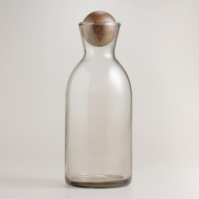 Individual Decanter with Wood Stopper