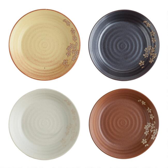 Fuji Blossom Salad Plates Set Of 4