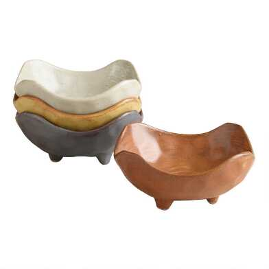Fuji Square Footed Dishes, Set of 4