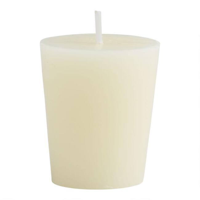 Ivory Unscented Votive Candles 12 Pack