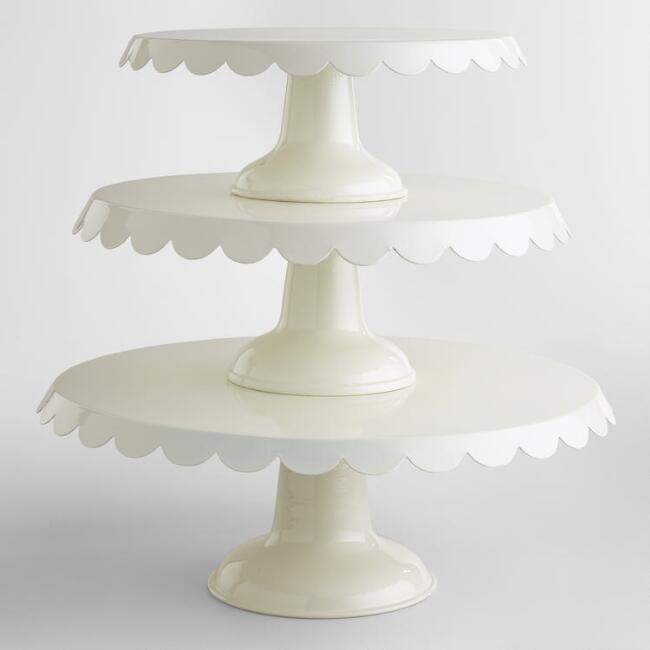 Ivory Amelie Cake Stands