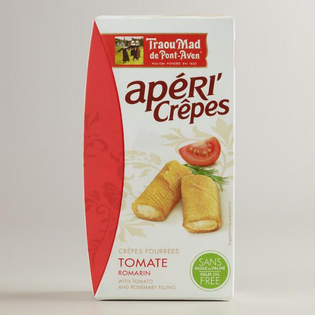 Apericrêpes with Tomato and Rosemary