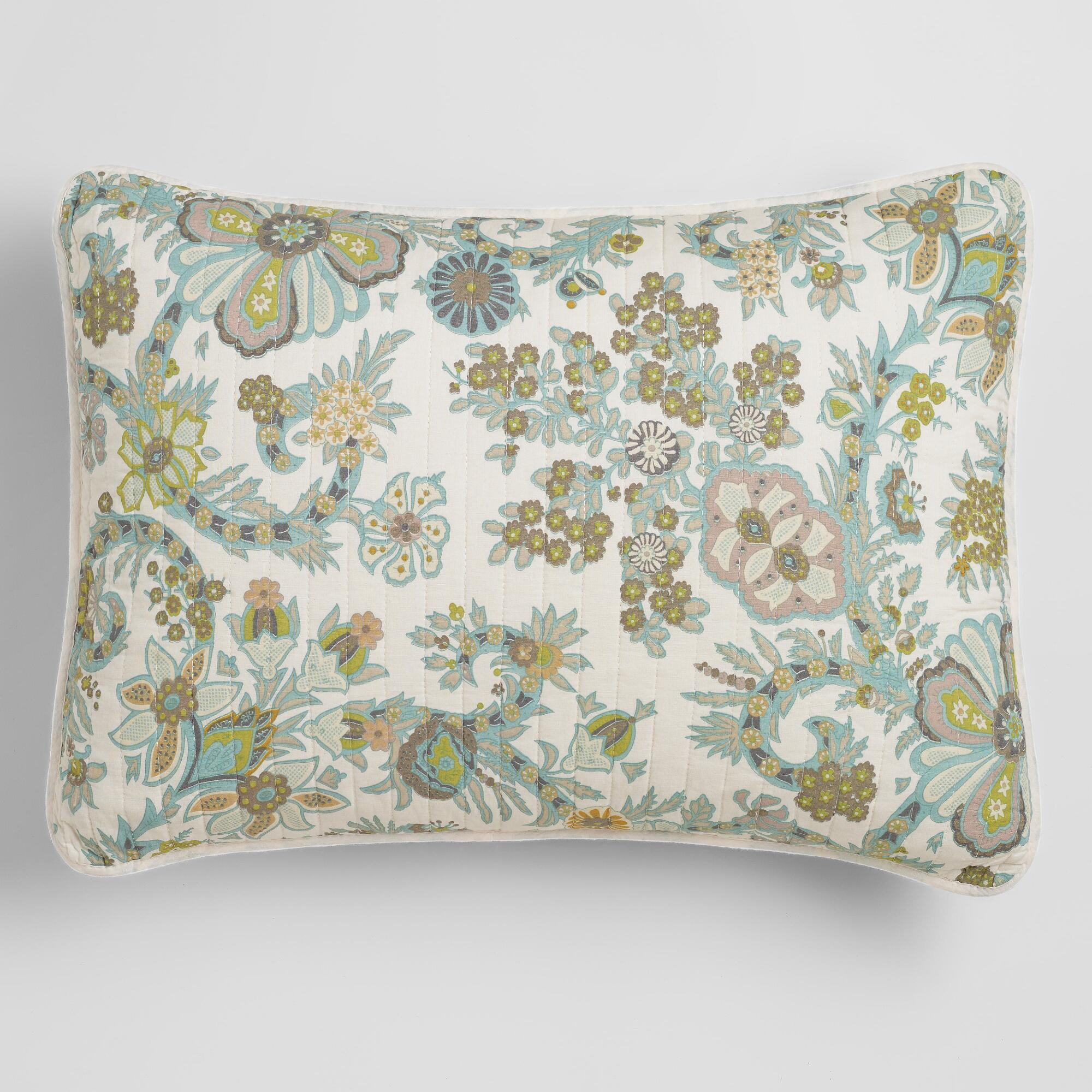 Cost Plus World Market Indian Floral Alisha Pillow Shams
