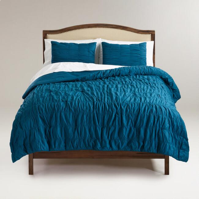 Ella Ruched Comforter in Legion Blue