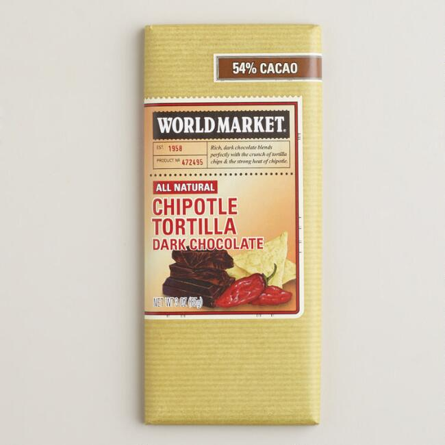 World Market® Dark Chocolate Chipotle Tortilla Bar