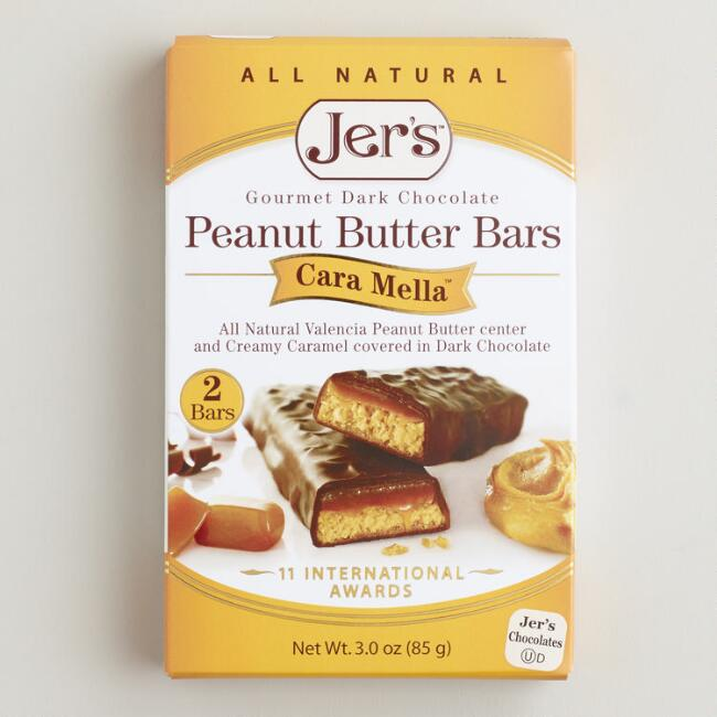 Jer's Cara Mella Dark Chocolate Peanut Butter Bars, Set of 2