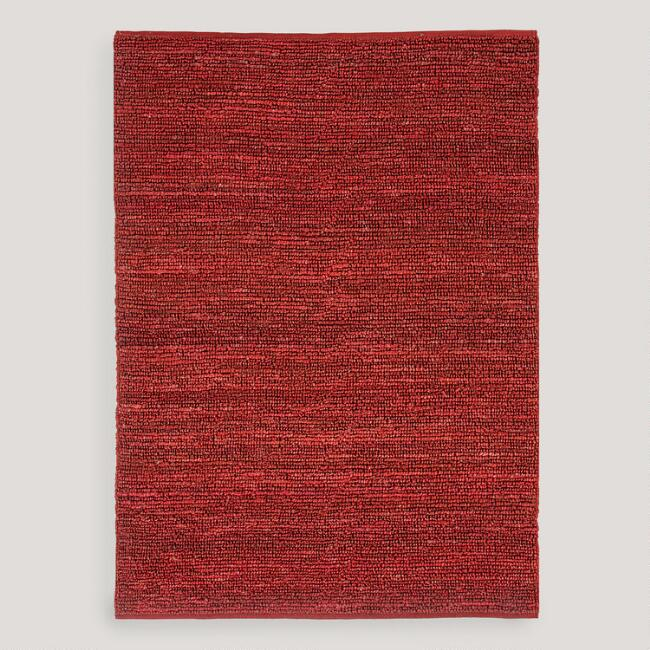 Red Deca Flat-Woven Jute Rug