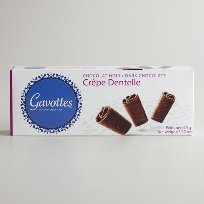 Gavottes Dark Chocolate Crêpe Cookies