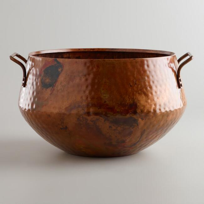 Hammered Copper Bucket