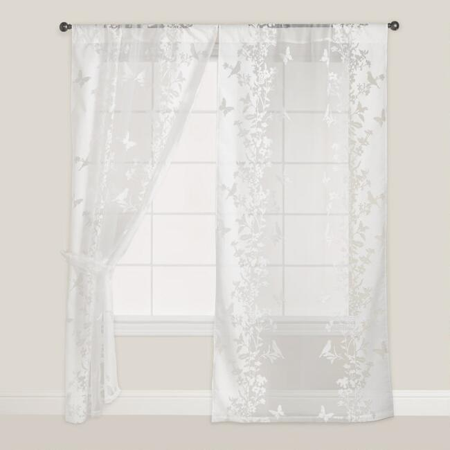 Butterfly and Bird Burnout Curtain