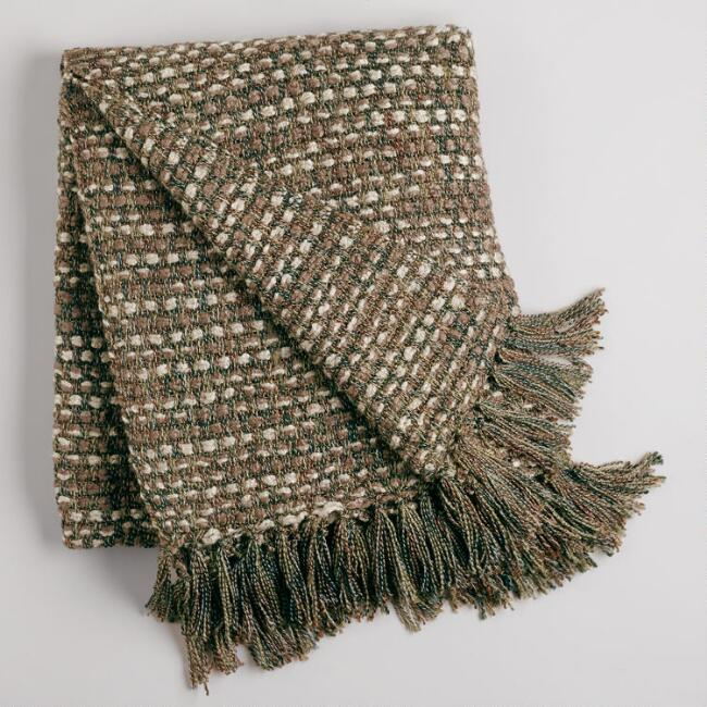 Earth Dots Woven Throw