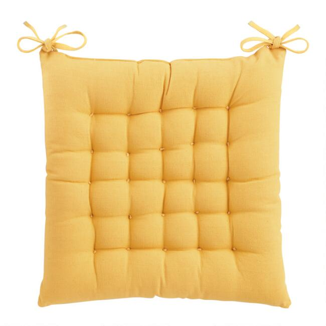 Golden Yellow Dasutti Chair Cushion
