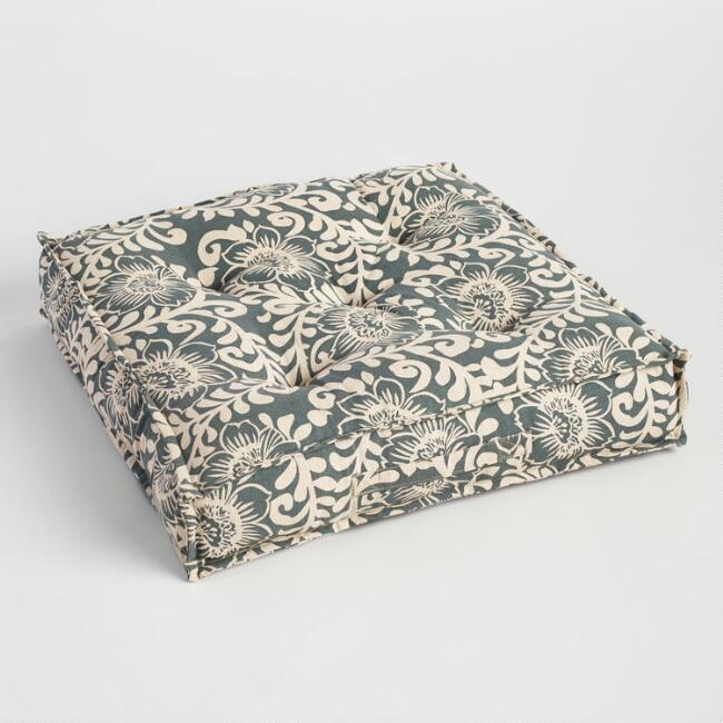 Wild Hibiscus Tufted Floor Cushion