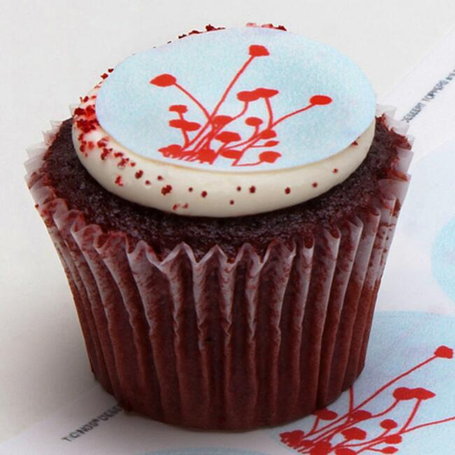 Ticings Red Bouquet Icing Toppers, 15-Count