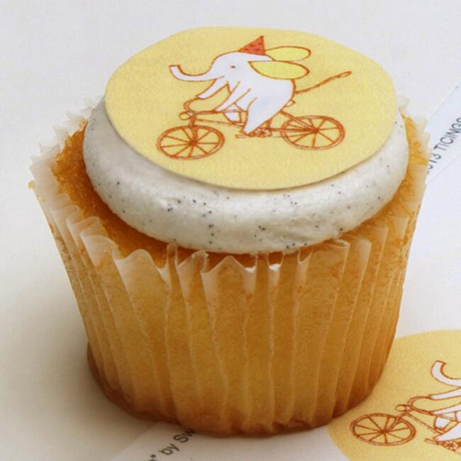 Ticings Elebike Party Icing Toppers, 15-Count