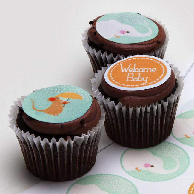 Ticings Welcome Baby Icing Toppers, 15-Count