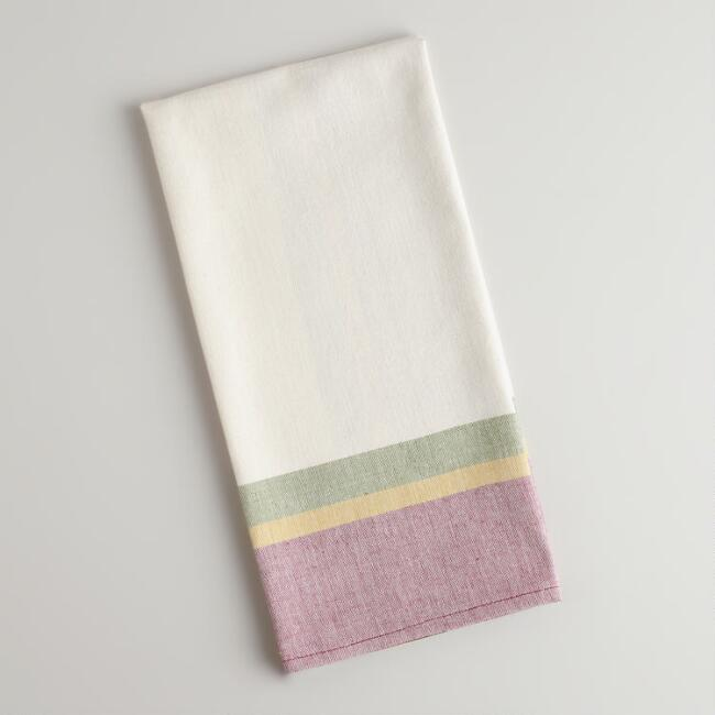 Fig Plaid Woven Kitchen Towel