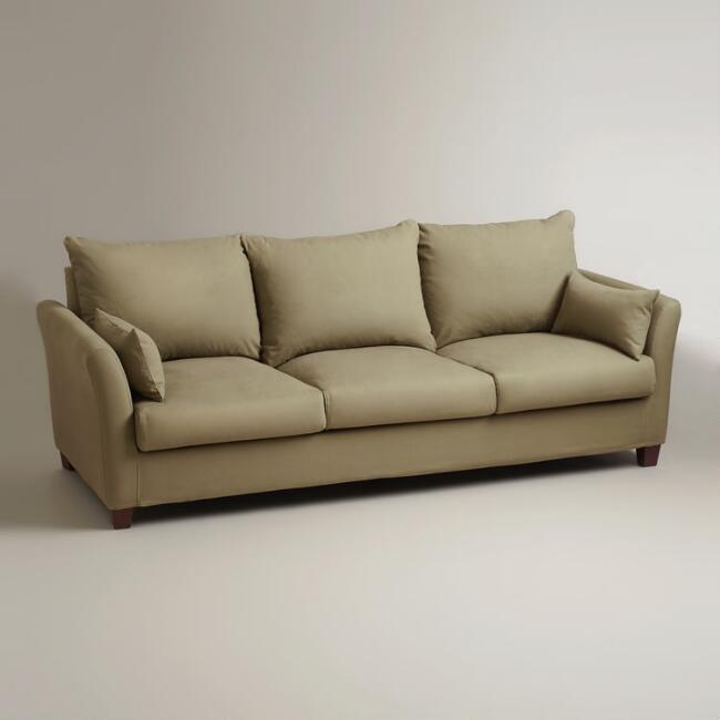 Sage Luxe 3-Seat Sofa Slipcover - Sage Luxe 3-Seat Sofa Slipcover World Market