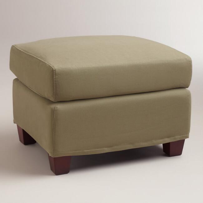 for with corner chairs rocking using slipcover ottoman simple canvas and welting thewinerun ottomans no pleats slipcovers