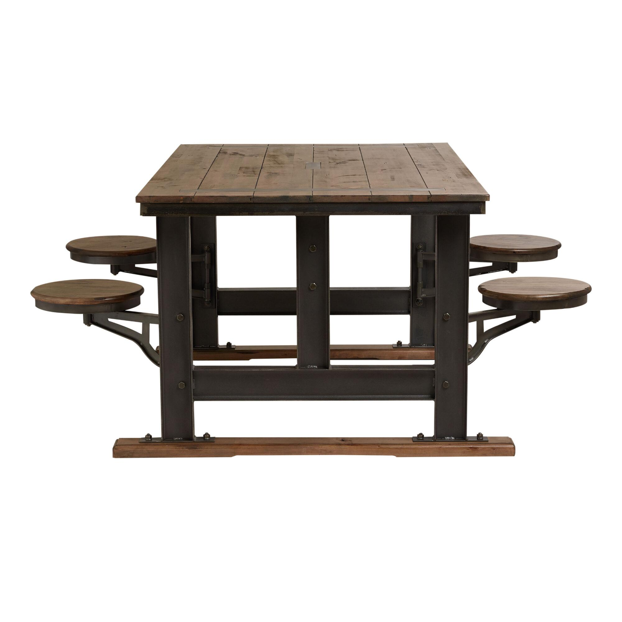 Galvin Cafeteria Table World Market - Standard cafeteria table dimensions