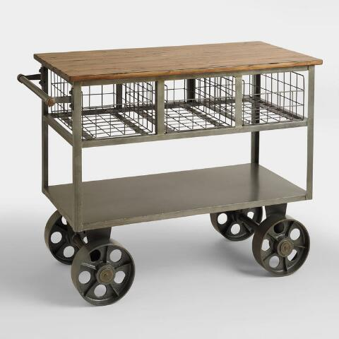 Bryant Mobile Kitchen Cart | World Market on outdoor cart, diy trunk, 3 level plastic utility cart, diy storage rack, diy home decor, diy cabinet, diy stand, diy armoire, diy bedroom set, restaurant three tier cart, diy living room, diy rug,